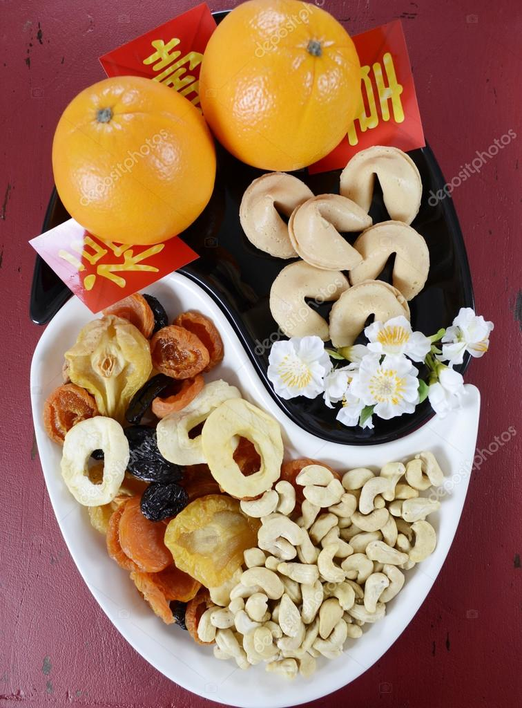 chinese new year party decorations stock photo