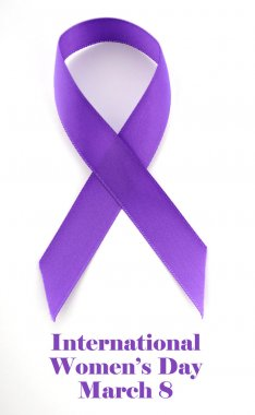 International Womens Day purple ribbon