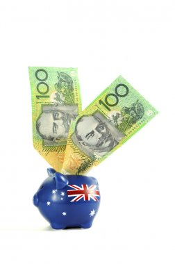 Australian Money with Piggy Bank