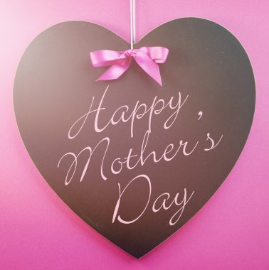 Happy Mothers Day message written on a black blackboard