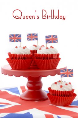 British Cupcakes with Union Jack Flags