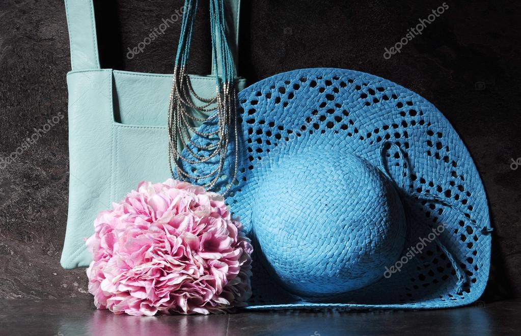 12d1c48e5c68 Ladies vintage retro style apparel with aqua blue sun hat