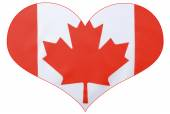 Heart shape Canadian Flag