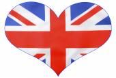Photo Heart shape British Union Jack  Flag