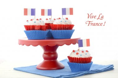 Happy Bastille Day Party Cupcakes