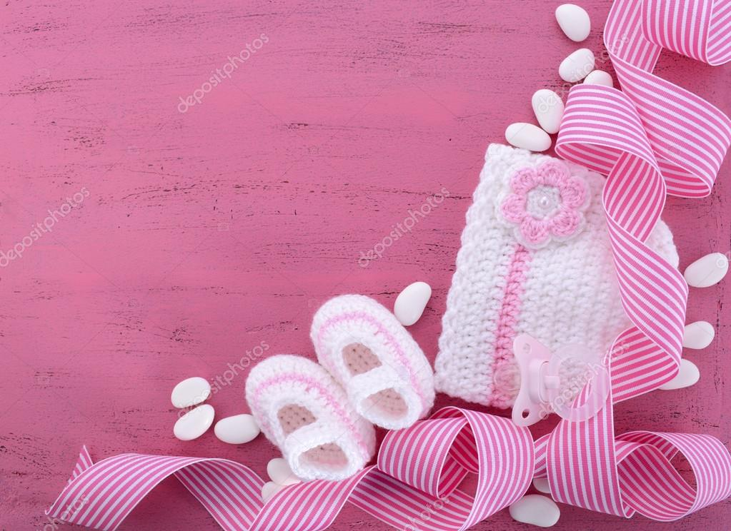 Its A Girl Baby Shower Or Nursery Background Stock Photo C Amarosy
