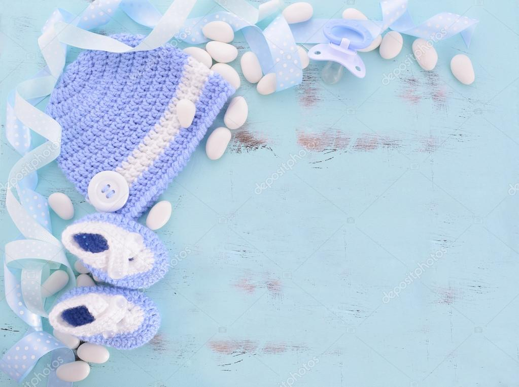 Its a Boy Baby Shower or Nursery background — Stock Photo ...