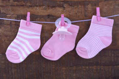 Its a Girl Pink Baby Socks
