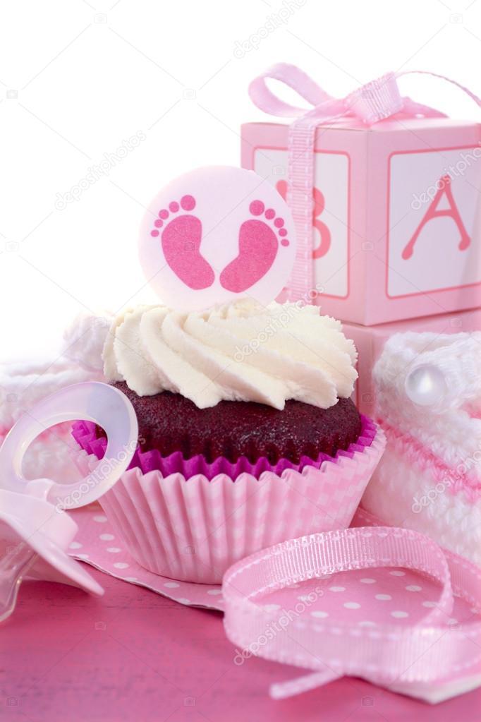 Es Ist Ein Madchen Babyparty Kuchen Stockfoto C Amarosy 78789268