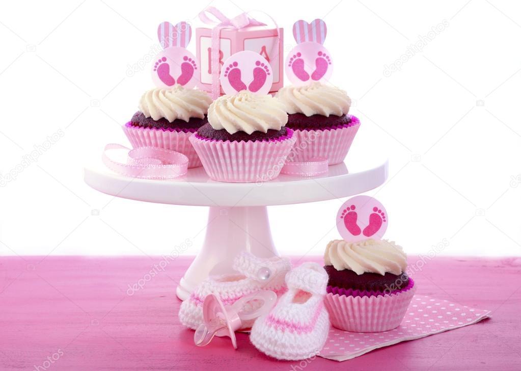 Es Ist Ein Madchen Babyparty Kuchen Stockfoto C Amarosy 78789700