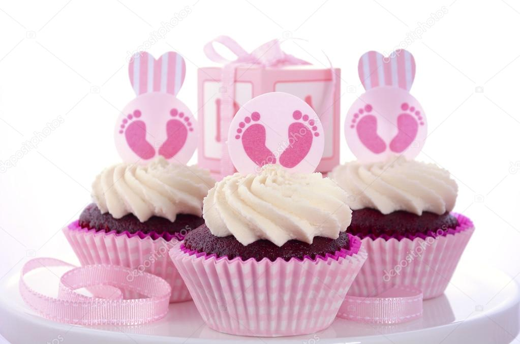 Its A Girl Baby Shower Cupcakes Stock Photo Amarosy 78795292