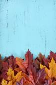 Autumn Fall Rustic Wood Background.