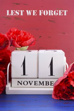 Remember, Armistice and Veterans Day Calendar