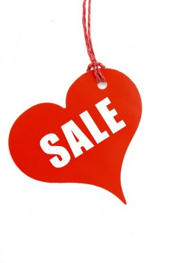 Red Heart Sales Promotion Tag Ticket