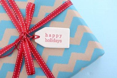 Aqua and red Christmas Gift