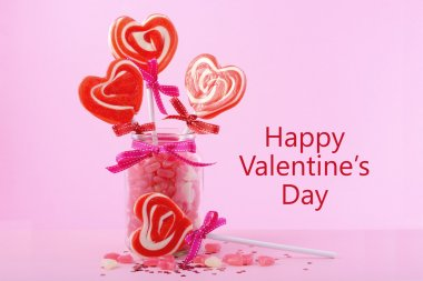 Sevgililer günü şeker kavanoz içinde