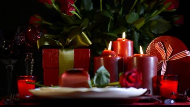 Romantischer Valentinstag Aufstellung