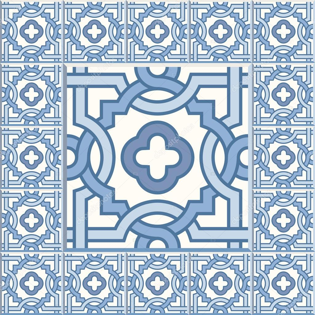 Retro Floor Tiles patern — Stock Vector © Slanapotam #103717666