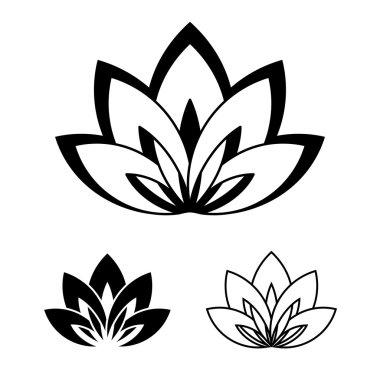 Lotus flower as a symbol of yoga