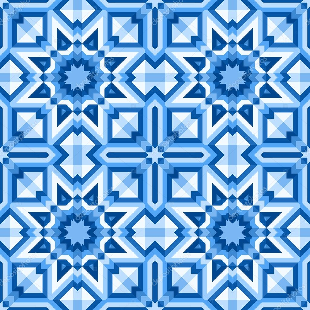 Patterned floor tiles in blue colors — Stock Vector © Slanapotam ...
