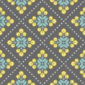 Retro květinovým vzorem, geometrické bezešvé květiny