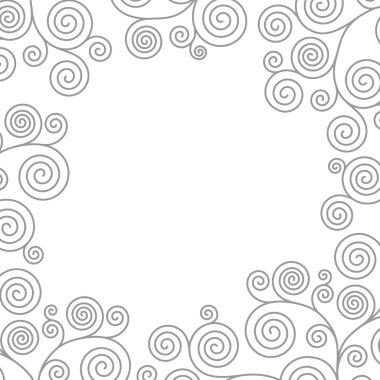 Frame with curvy spirals