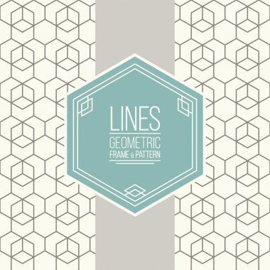 Set of line pattern and linear frame