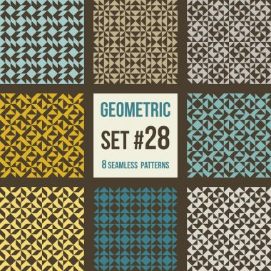 Set of eight geometric patterns