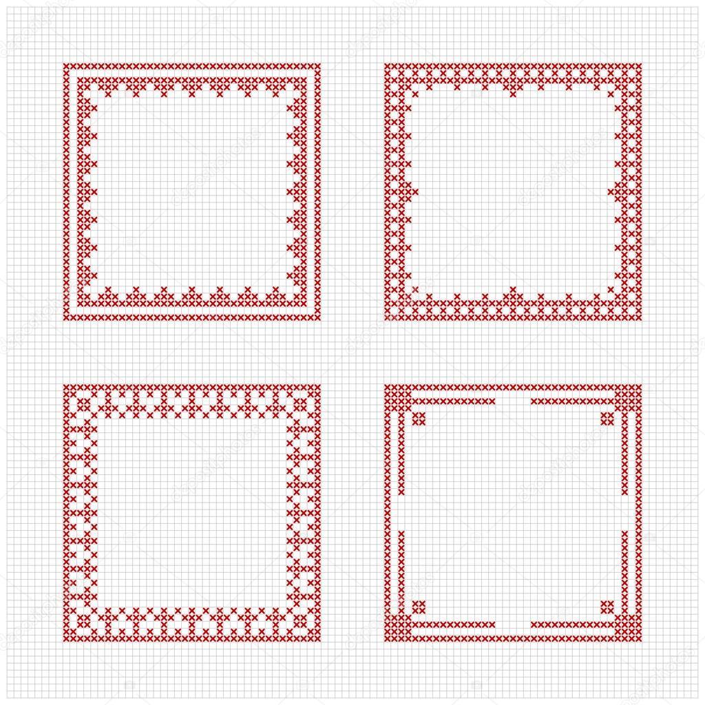 Diseños de punto de cruz | Estilo escandinavo punto de cruz patrón ...