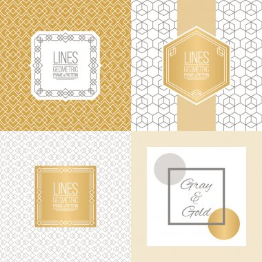 Set of line patterns and linear frames