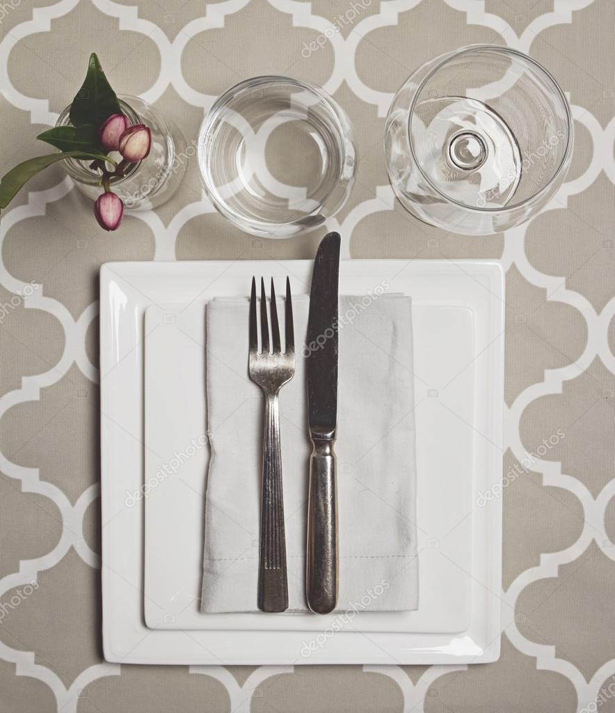 Overhead View Of A Moroccan Fine Dining Table Setting U2014 Stock Photo