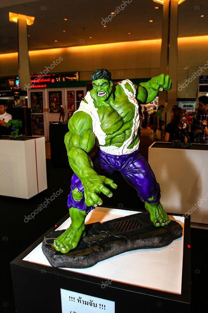 A model of the character Hulk from the movies and comics