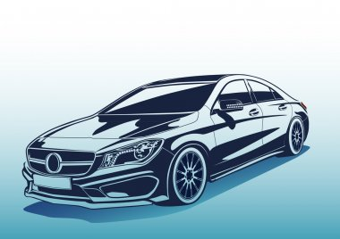 Vector charismatic automobile drawing