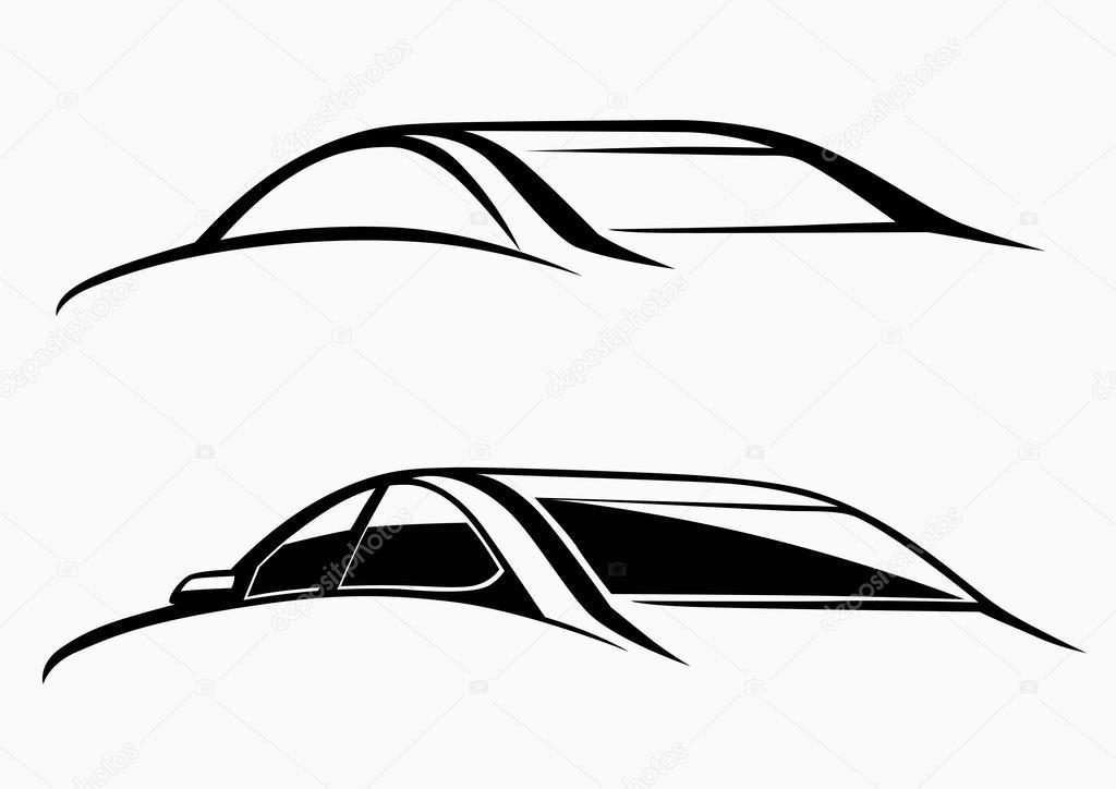 calligraphic car logo stock vector topcu 62640481