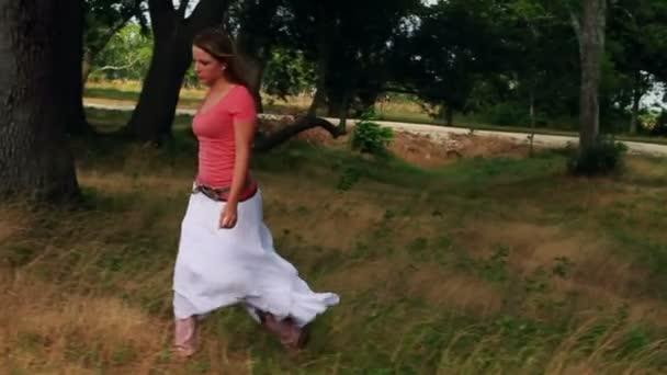 Steadicam následovat cowgirl