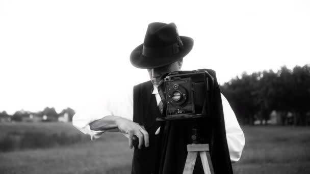 let fotograf fotografování černé a bílé