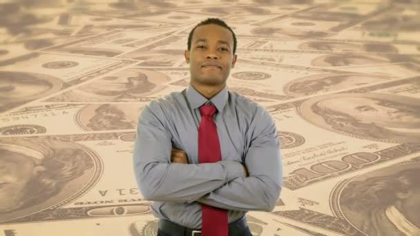 firemní professional na pozadí peníze