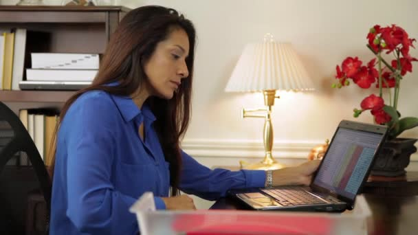hispanic woman ceo working in her corporate office