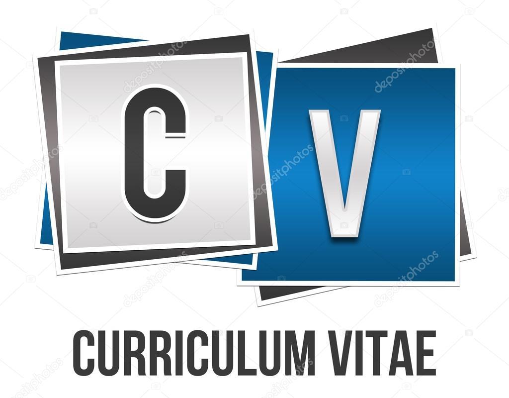 Curriculum Vitae Azul Gris Bloques Foto De Stock C Ileezhun 102855698