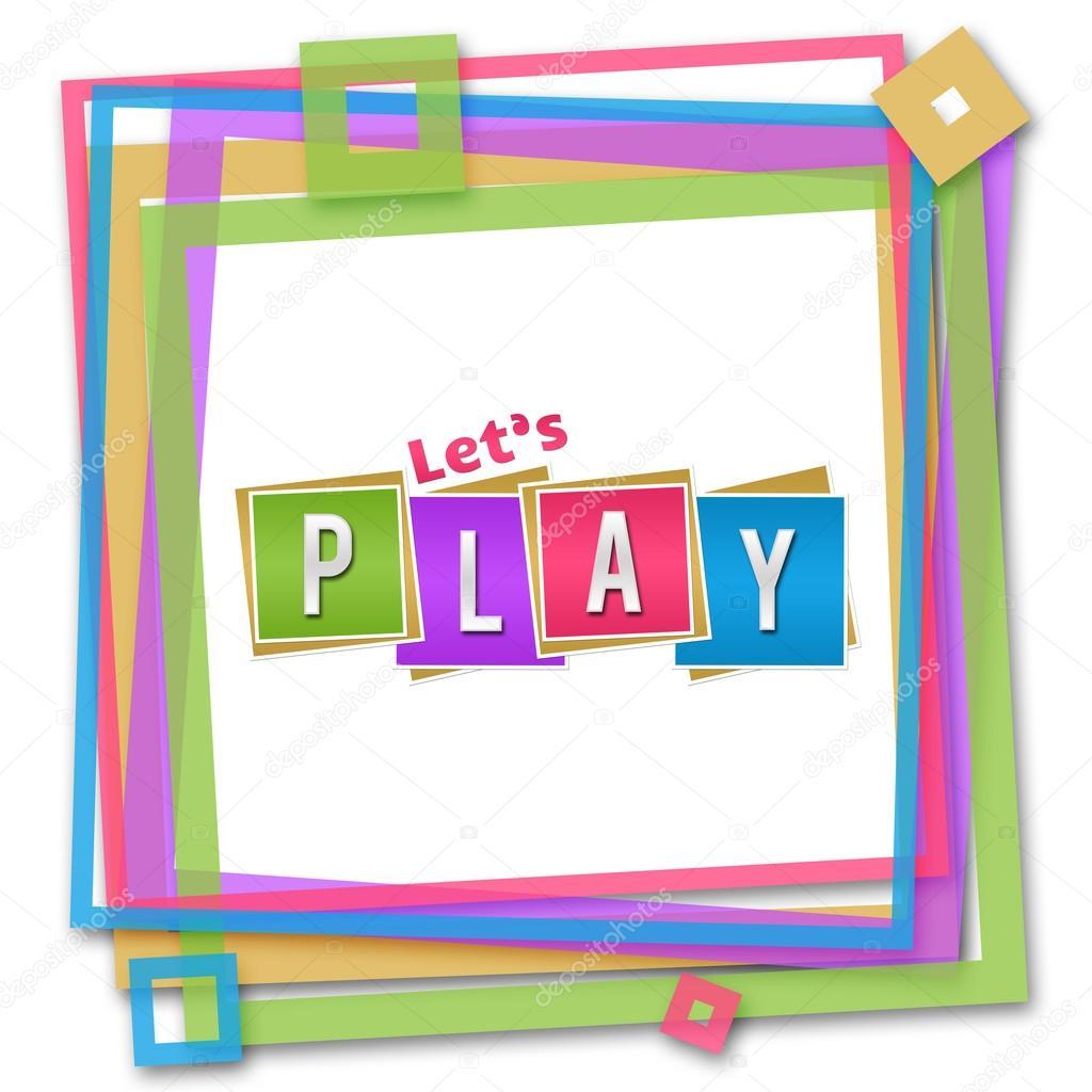 Permite el marco colorido juego — Foto de stock © ileezhun #103477336