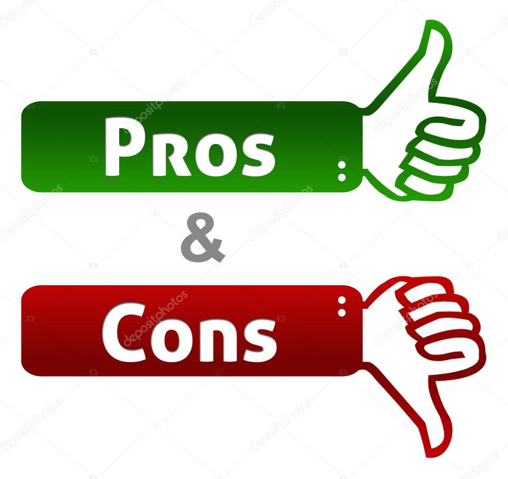 pro cons Pros and cons are arguments for or against a particular issue pros are arguments that aim to promote the issue, while cons suggest points against it the term has been in use since the 16th century and is a shortening of a latin phrase, pro et contra , which means for and against.