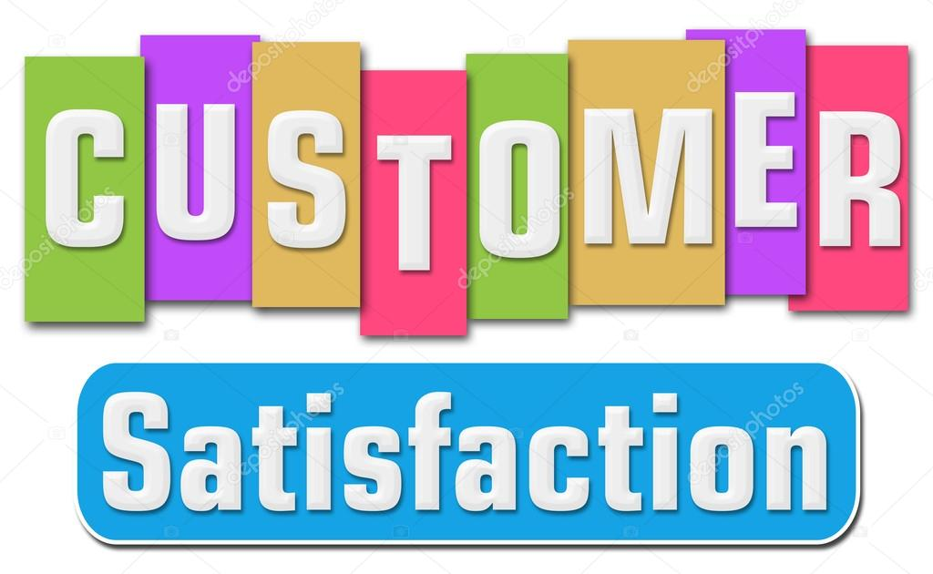 Customer Satisfaction Colorful Stripes