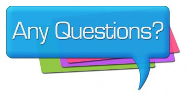 Any Questions Colorful Comments Symbols
