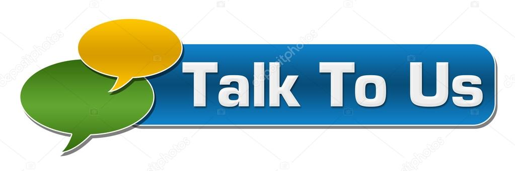 Talk To Us Comment Symbol Blue Stripe Stock Photo Ileezhun