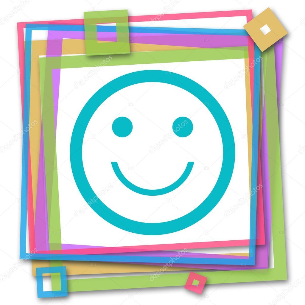 Smily Gesicht bunten Rahmen — Stockfoto © ileezhun #117942682