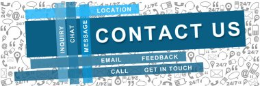 Contact Us Stripe Texture Background