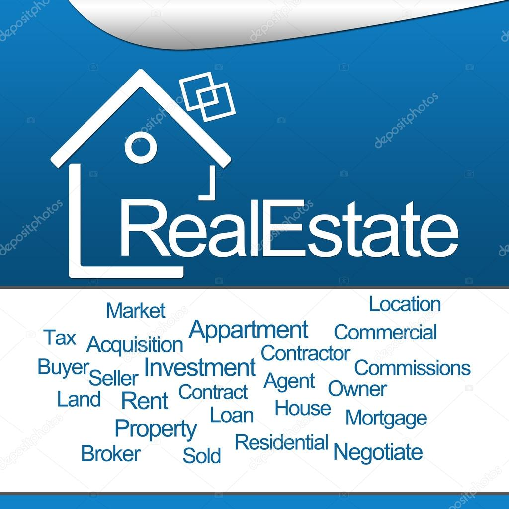 Real Estate Blue Square
