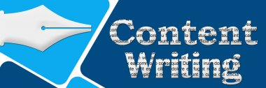 Content Writing Two Blue Blocks