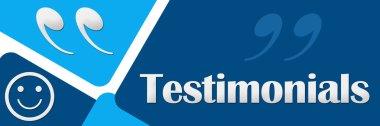 Testimonials Two Blue Squares