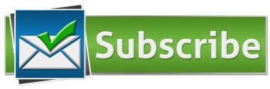 Subscribe Green Blue Button Style